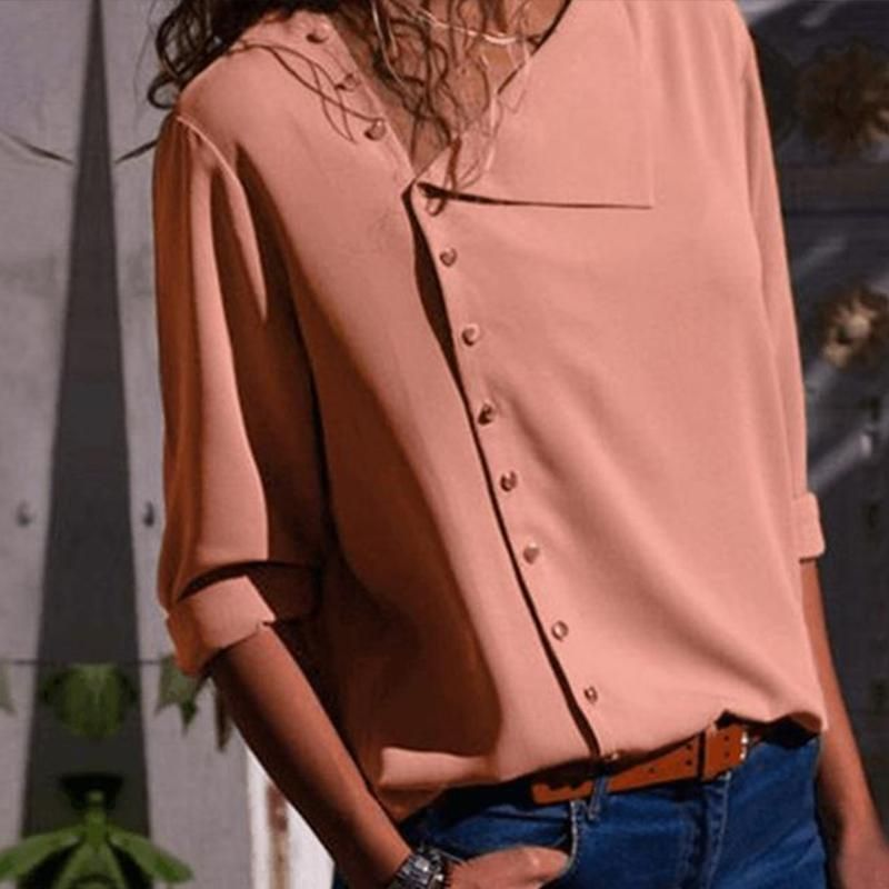 d0bdf000800 Product Name Chic irregular diagonal collar button long sleeve shirt SKU  3420C1CBEADD Gender Women Style Chic Fashion Elegant Occasion Casual Daily Date  ...