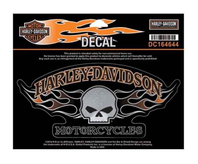 Harley Davidson Willie G Skull Flames Decal Large Size Sticker - Stickers for motorcycles harley davidsonsharley davidson decalharley davidson custom decal stickers