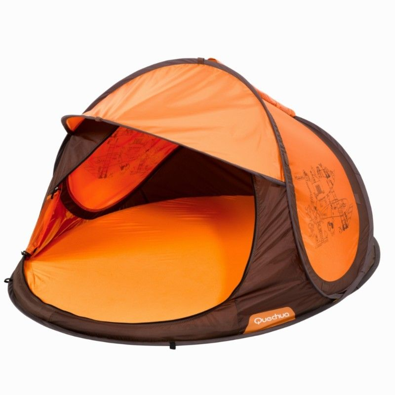 great kids travel popup bed/tent with self-inflatable mattress and sheet-- Quechua brand  sc 1 st  Pinterest & Porte bébé matériel bébé - Tente Abris 2 seconds Bébé marron ...