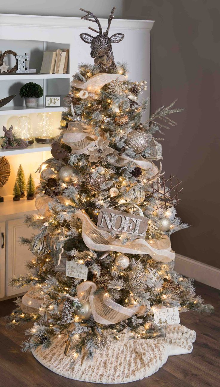 Find Your Holiday Decorating Style When You Browse Kirkland S Collections The Rustic Col Elegant Christmas Trees Christmas Tree Themes Christmas Tree Design