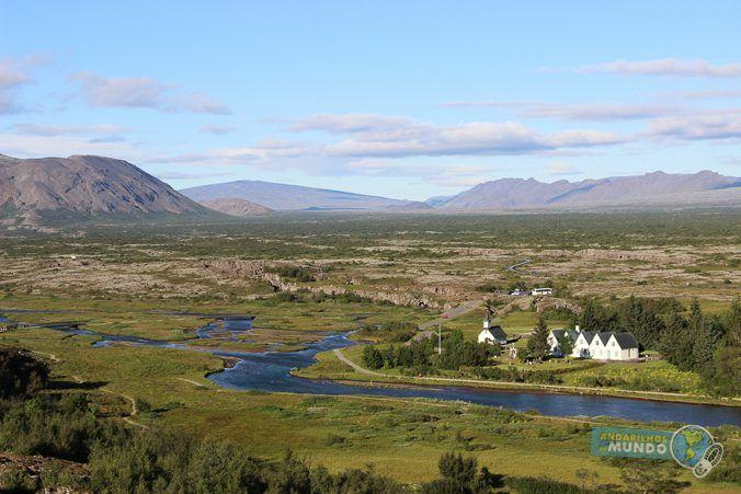Circulo Dourado Islandia - Visual do Thingvellir