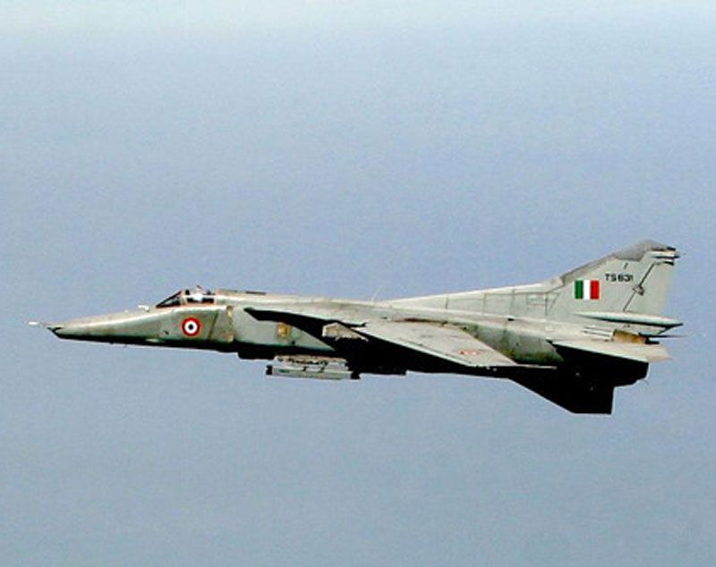"""First flight of the Mikoyan MiG-27 """"Flogger-D/J"""" ground attack aircraft 20/8 1970."""