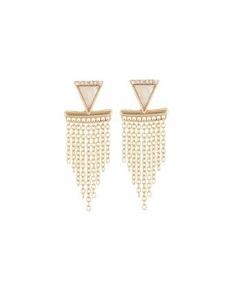 Golden+Front-Back+Fringed+Stud+Earrings+by+Panacea+at+Neiman+Marcus+Last+Call.