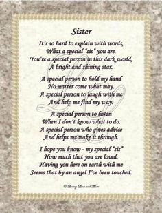 from big sister to little sister poems - Google Search ...