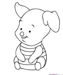 Baby Piglet Animales Animados Para Colorear Dibujos De Osos