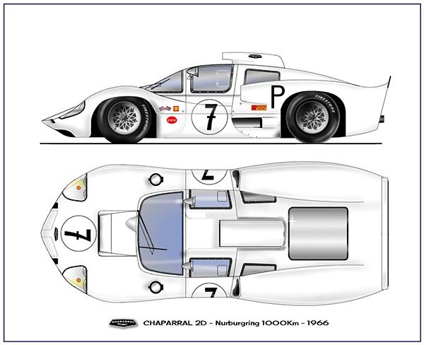 1966 Chaparral 2D by Paul VanHest | RACING CARS IN PROFILE ...