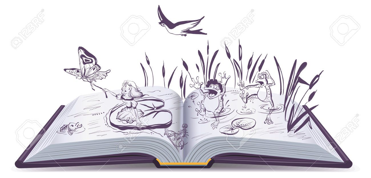 Image Result For Open Book Clip Art All Colors Open Book Drawing Fairy Book Book Clip Art