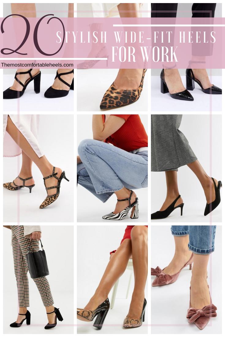 wide fit heels heels comfortable