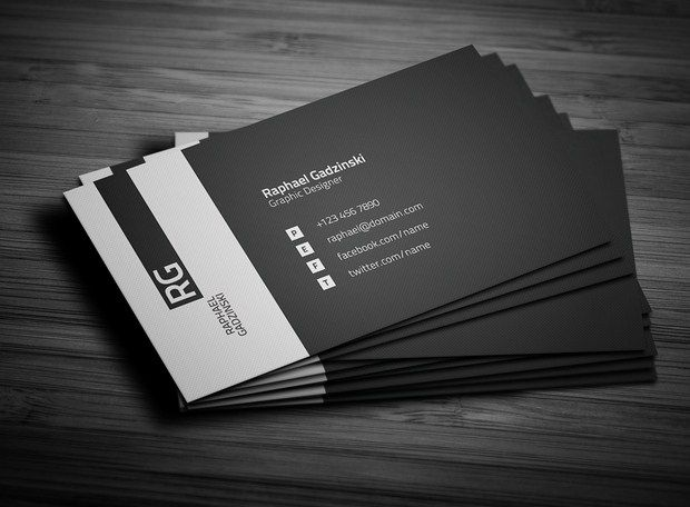 Simple Business Card Graphic design Business Cards, Black