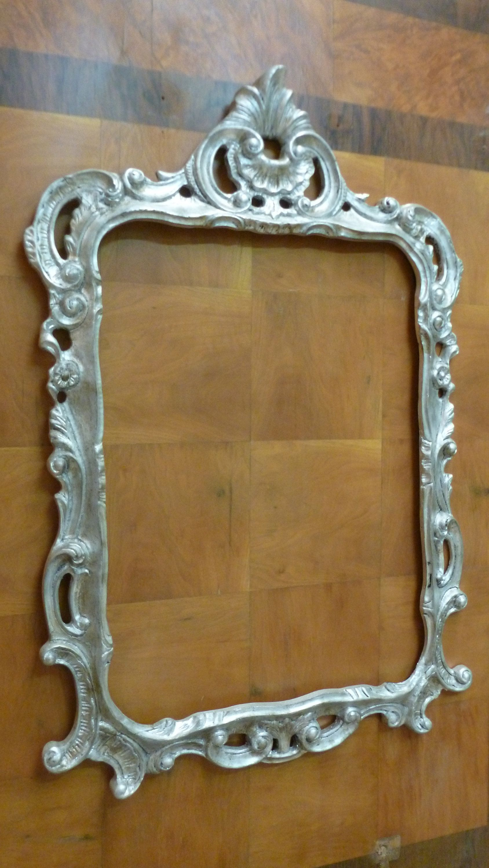 Cornice da specchio intagliata a mano in legno stile barocco foglia ...