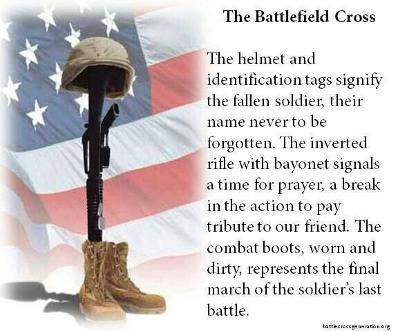 Battle field cross (With images) | Memorial day quotes, Soldier ...