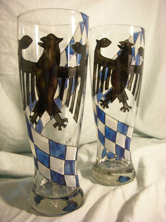 Hand Painted Bavarian Beer Glass -CUSTOMIZATION AVAILABLE ...