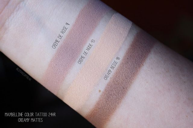 Le Makeup Freak Makeup Beauty Maybelline Color Tattoo 24hr Creamy Mattes Eyeshadows Maybelline Color Tattoo Color Tattoo Maybelline