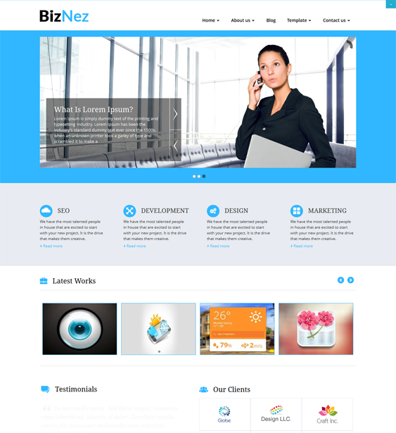 This free responsive business WordPress theme features a clean ...