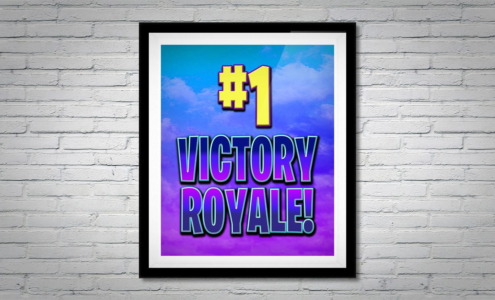 Fortnite Victory Royale Gamer Sign 8x10 Or 16x20 Digital File Gamer Decor Gamer Room Red Wall Art