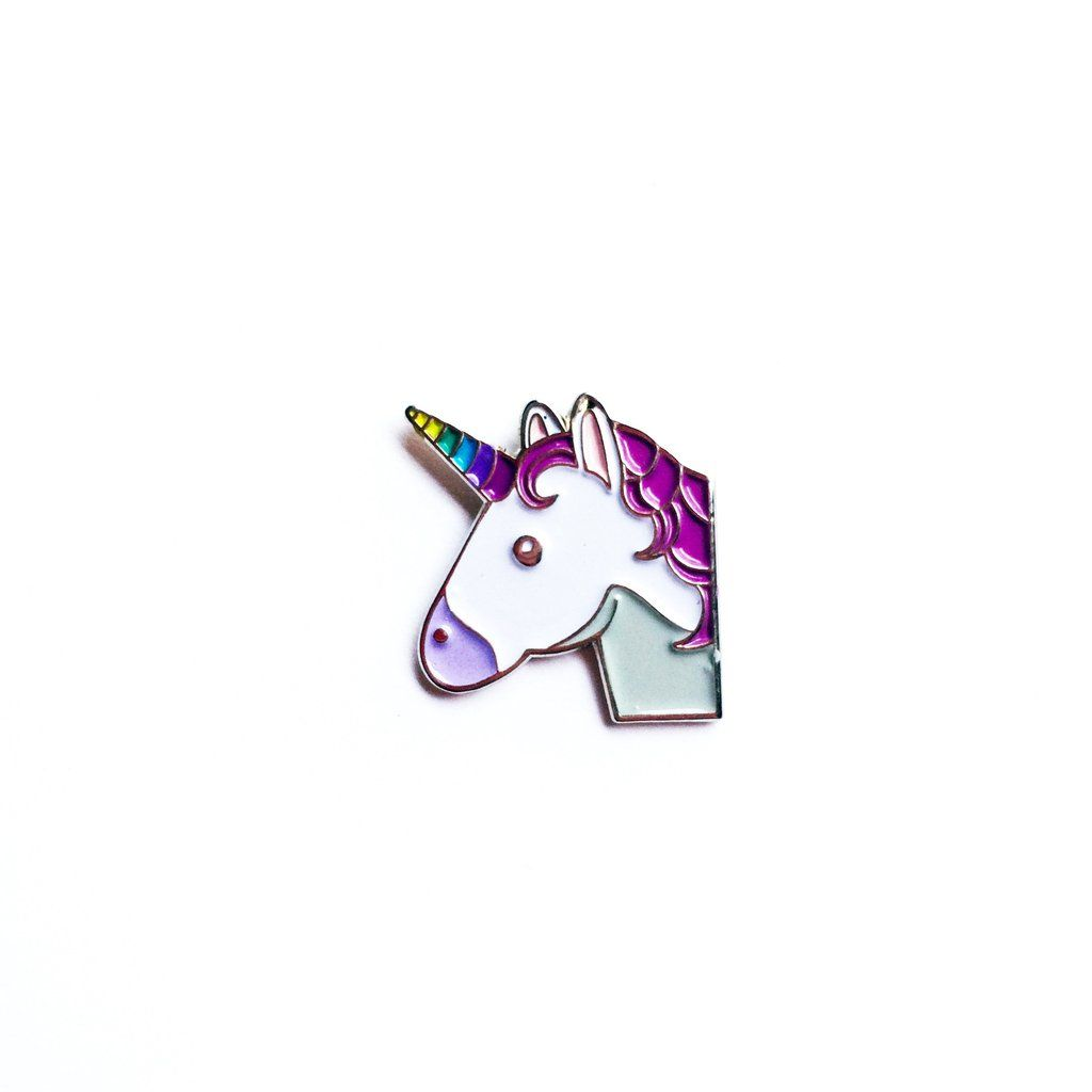 Unicorn Emoji' Pin | Accessories | Unicorn emoji, Unicorn