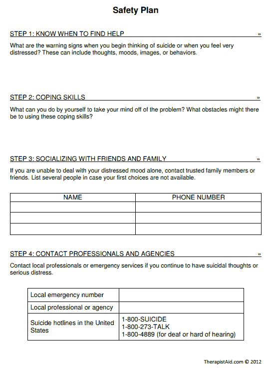 Printables Safety Plan Worksheet 1000 images about safety plan on pinterest how to be eyes and other people