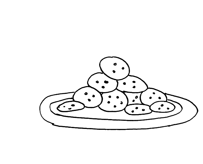 Serves A Plate Of Cookies Coloring Pages Cookie Coloring Pages Kidsdrawing Free Coloring Pa Coloring Pages For Kids Coloring Pages Monster Coloring Pages