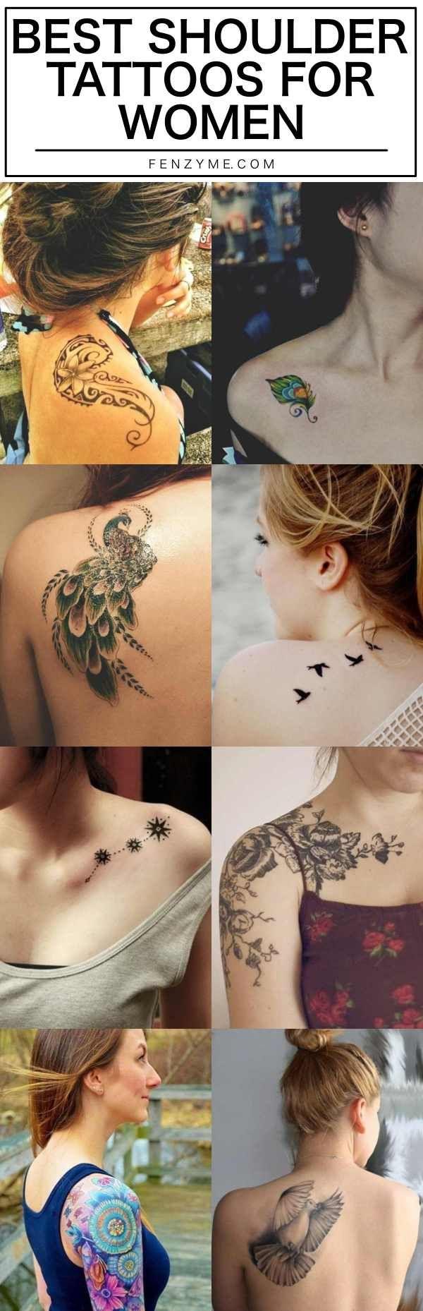 best shoulder tattoos for women in shoulder tattoos