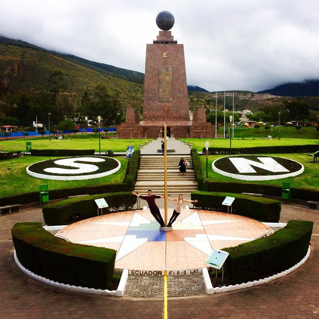 Hanging Out On The Equator At Mitad Del Mundo Ecuador Can You