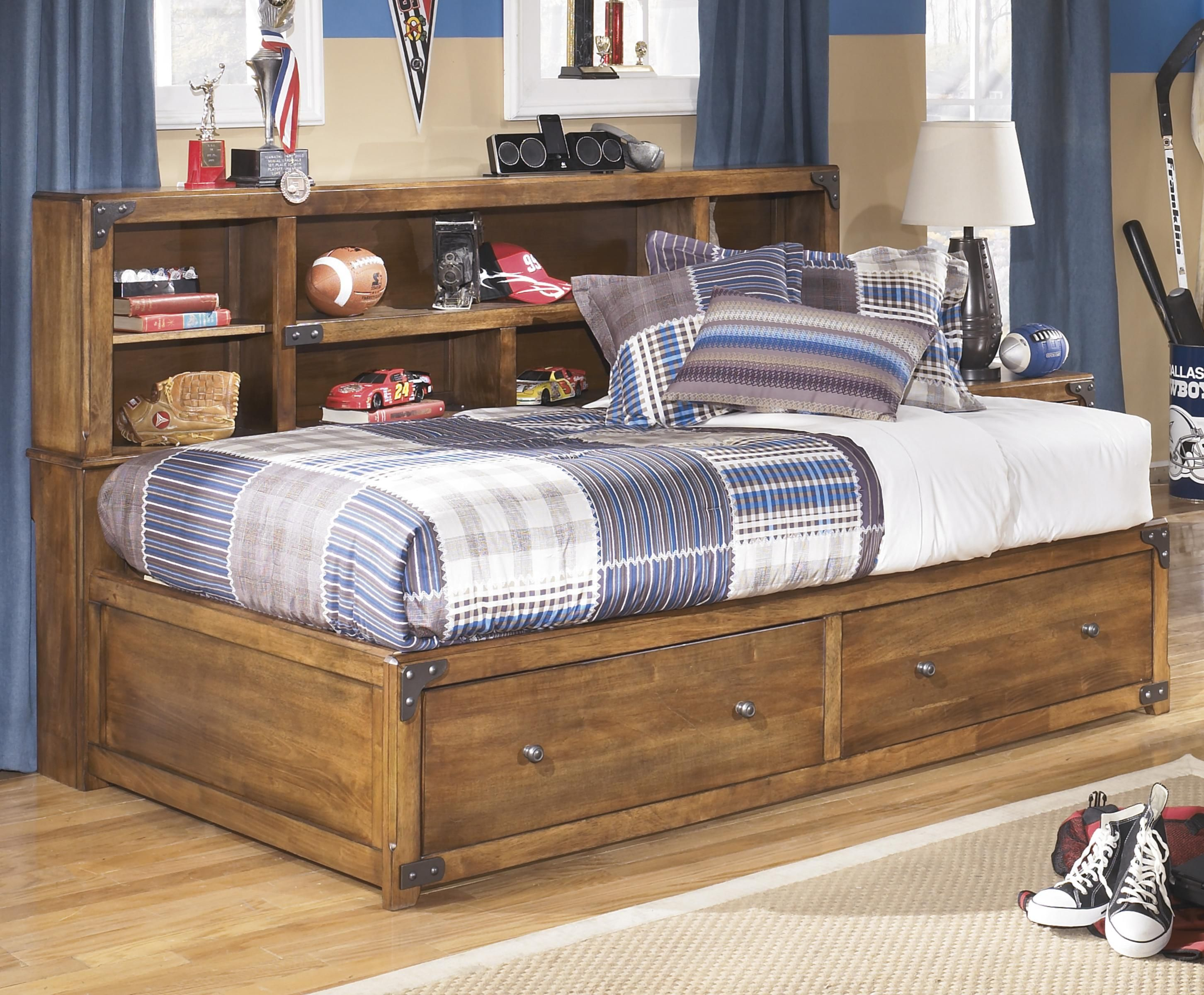 Cole Twin Bookcase Bed With Footboard Storage By Signature
