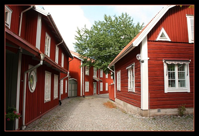 Falun Red Painted Houses Sweden