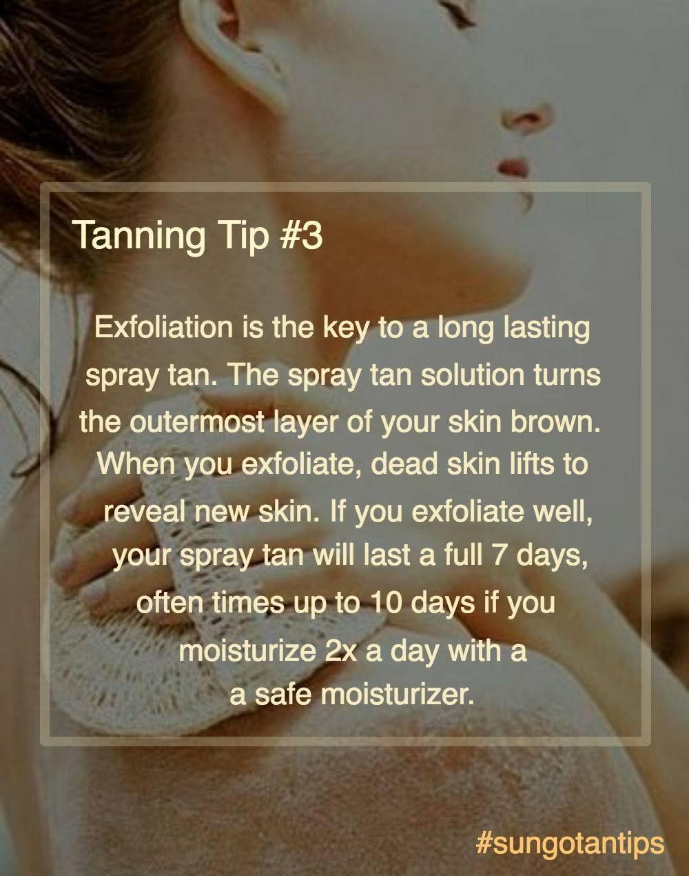 Sungo tanning tip #3