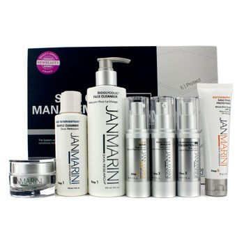 Skin Care Management System MD (Normal/ Combination Skin): 2x Cleanser + Face Protectant + Serum + 2x Lotion + Cream 7pcs - Product Image