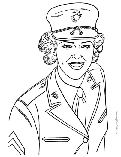 Military Coloring Page to Print | Veterans Day Decorations ...