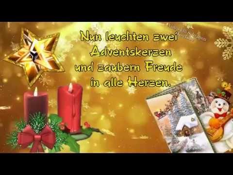 Grusse Fur Dich Ich Denke An Dich Mit Lieben Grussen Die Von Herzen Kommen Youtube Advents Grusse Zweiter Advent 2 Advent