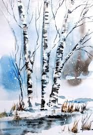 Bildresultat For Easy Winter Landscape Painting