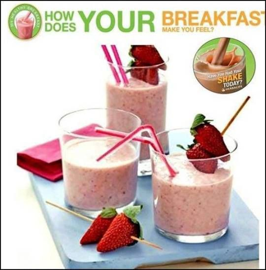 How does YOUR BREAKFAST make you feeel?... ORDER YOUR HEALTHY BREAKFST KIT NOW! SABRINA INDEPENDENT HERBALIFE DISTRIBUTOR SINCE 1994 https://www.goherbalife.com/goherb/ Call USA: +1 214 329 0702 Italia: +39- 346 24 52 282 Deutschland: +49- 5233 70 93 696