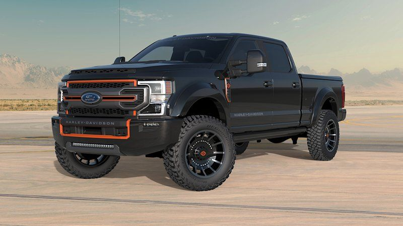 2020 Ford F 250 Super Duty Joins Harley Davidson Themed Trucks By Tuscany In 2020 Ford Harley Davidson Super Duty Trucks Harley Davidson Truck