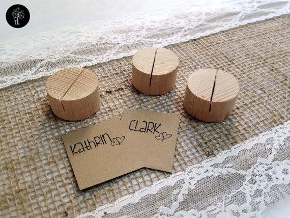 Wedding Card Holder Wooden Wedding Decor Name Card