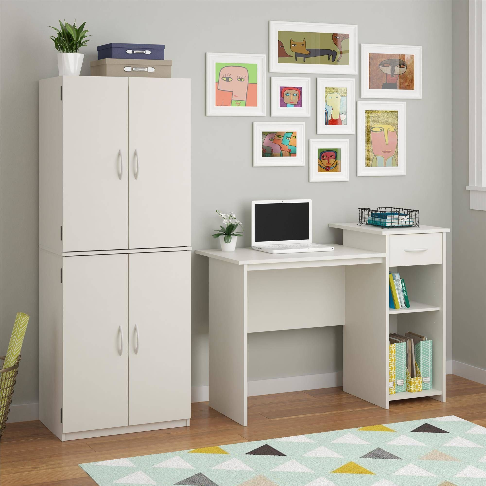 Mainstays Student Desk Multiple Finishes Student Desk For Bedroom Easy Glide Accessory Drawer Mainstays Desk With Adjustable Shelf Tall Cabinet Storage Pantry Storage Cabinet Kitchen Pantry Storage Cabinet