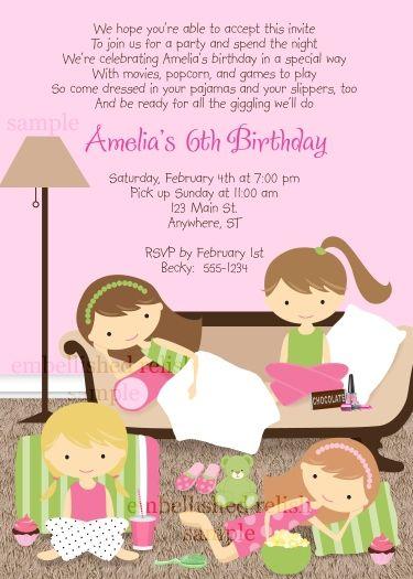 slumber party birthday invitation by kimbellished   girl birthday, Party invitations