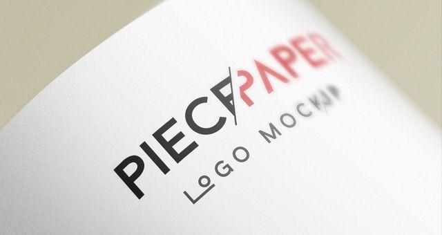 Paper Logo Mock-Up Template Vol2 LTheme Pinterest Clever - paper design template