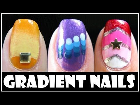 Gradient Nail Art Designs Fading Ombre Nails Tutorial How To Easy