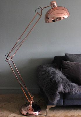 Copper Light, grey décor = Good Mix   Stehlampen ...