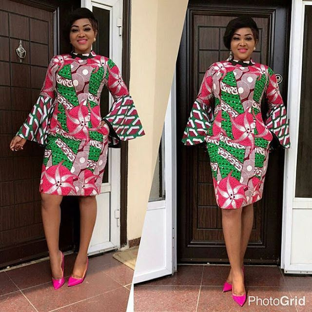 Simple And Lovely Ankara Short Gown Styles Mercy Aigbe Dezango
