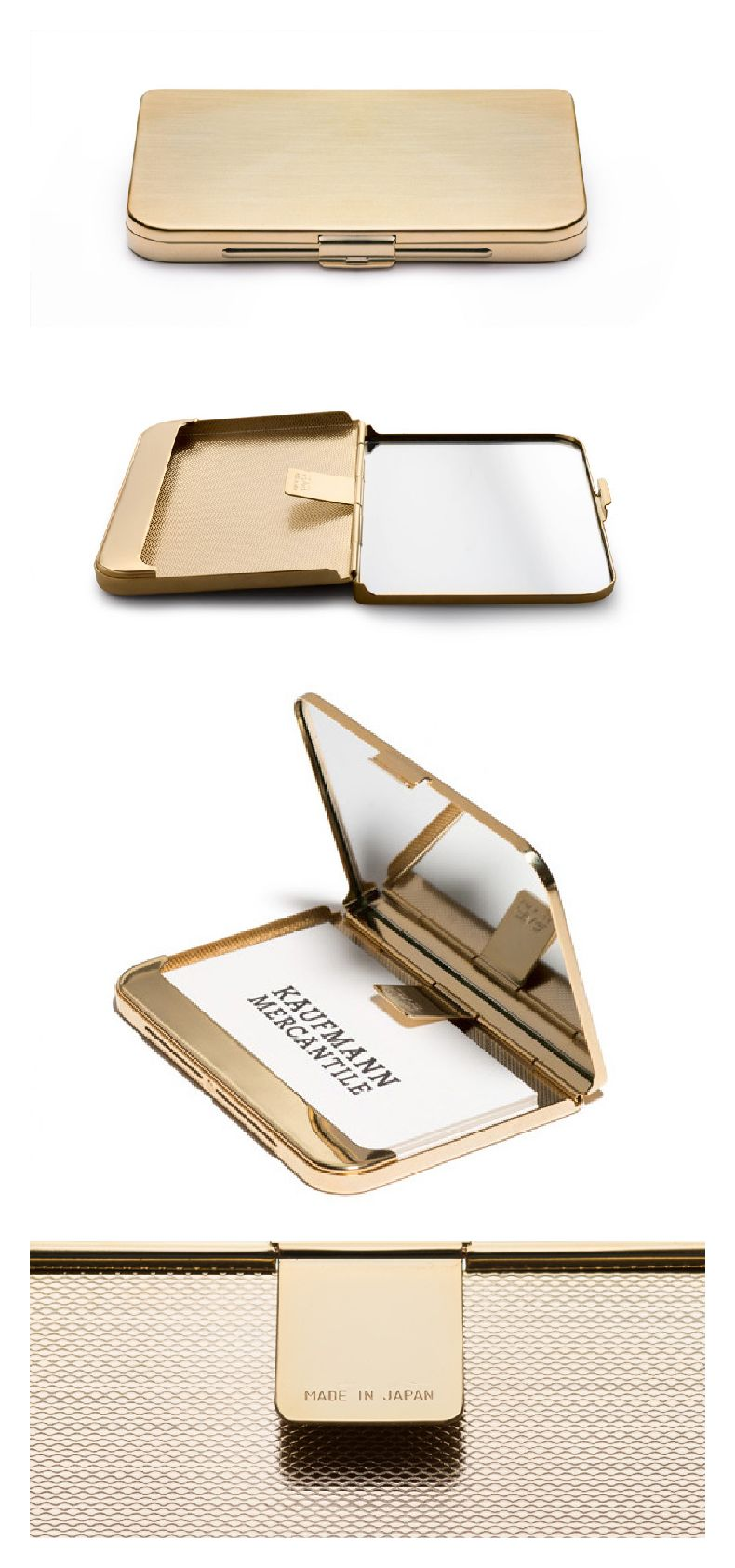 Satin-Finish Brass Business Card Holder $48 | accessories ...