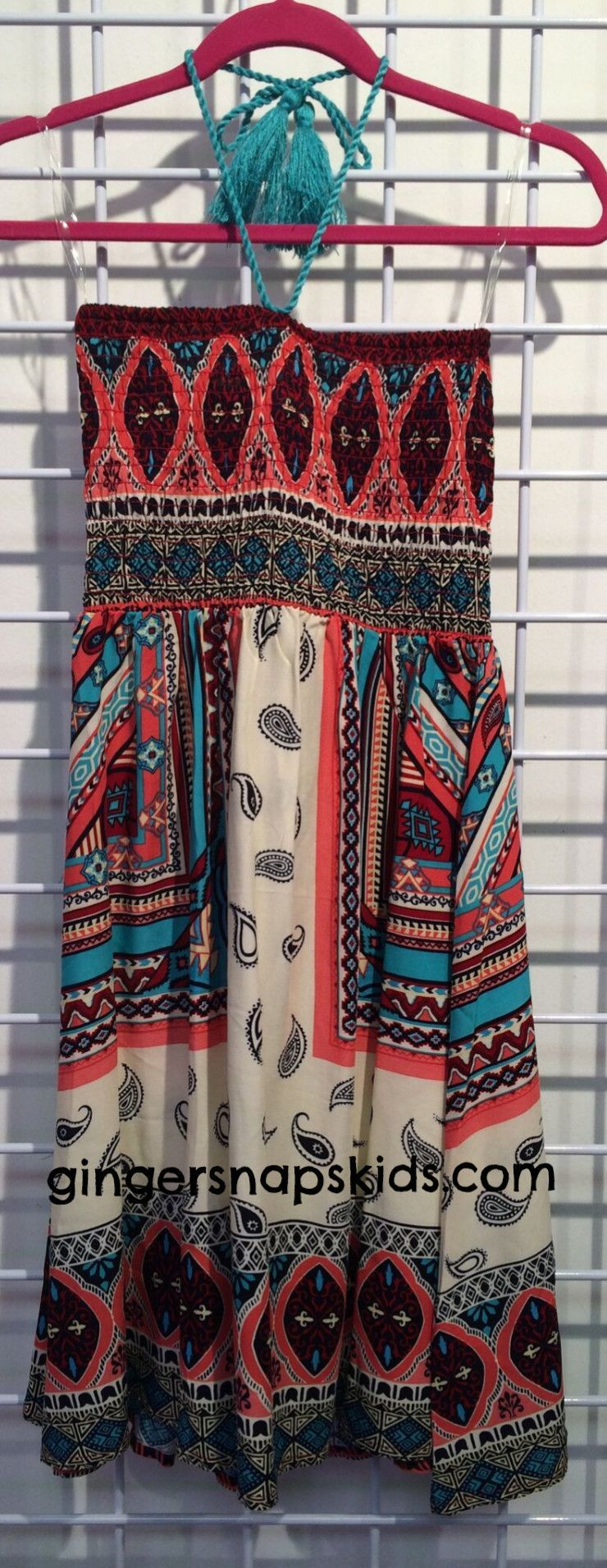 Vintage Havana Scarf Print Tube Dress (S-XL)