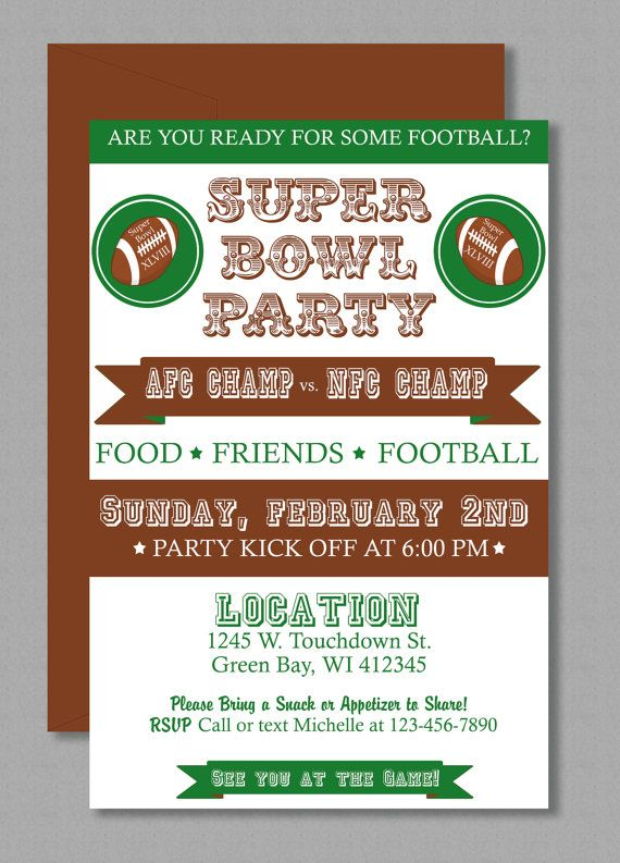 UPDATED For Super Bowl XLIX Editable and printable Microsoft – Super Bowl Party Invite