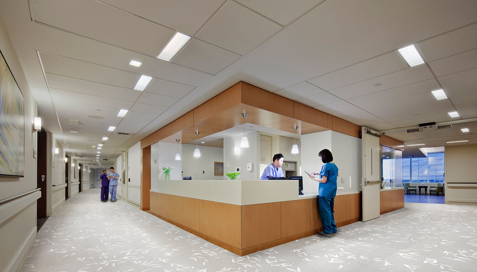 A Curved Glass Facade Gives This Women S Hospital A Generous And Expansive Appearance And Its S Hospital Interior Design Hospital Design Medical Office Design