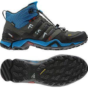 Adidas Terrex Fast R Mid Gtx Dark Cinder Sharp Blue Black Amazon Co Uk Shoes Accessories Boots Adidas Gore Tex