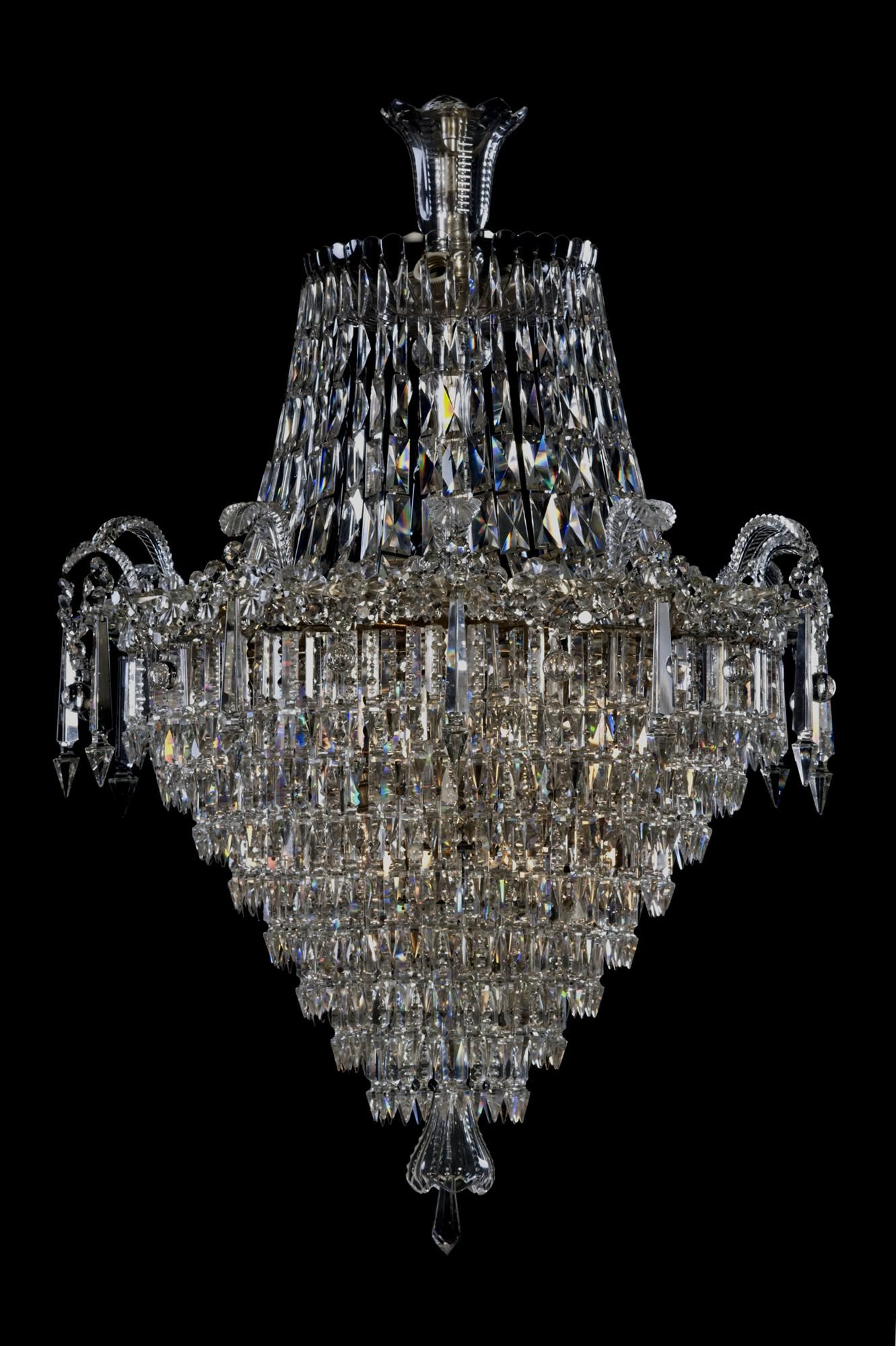 A fine tent and shower waterfall chandellier french circa 1900
