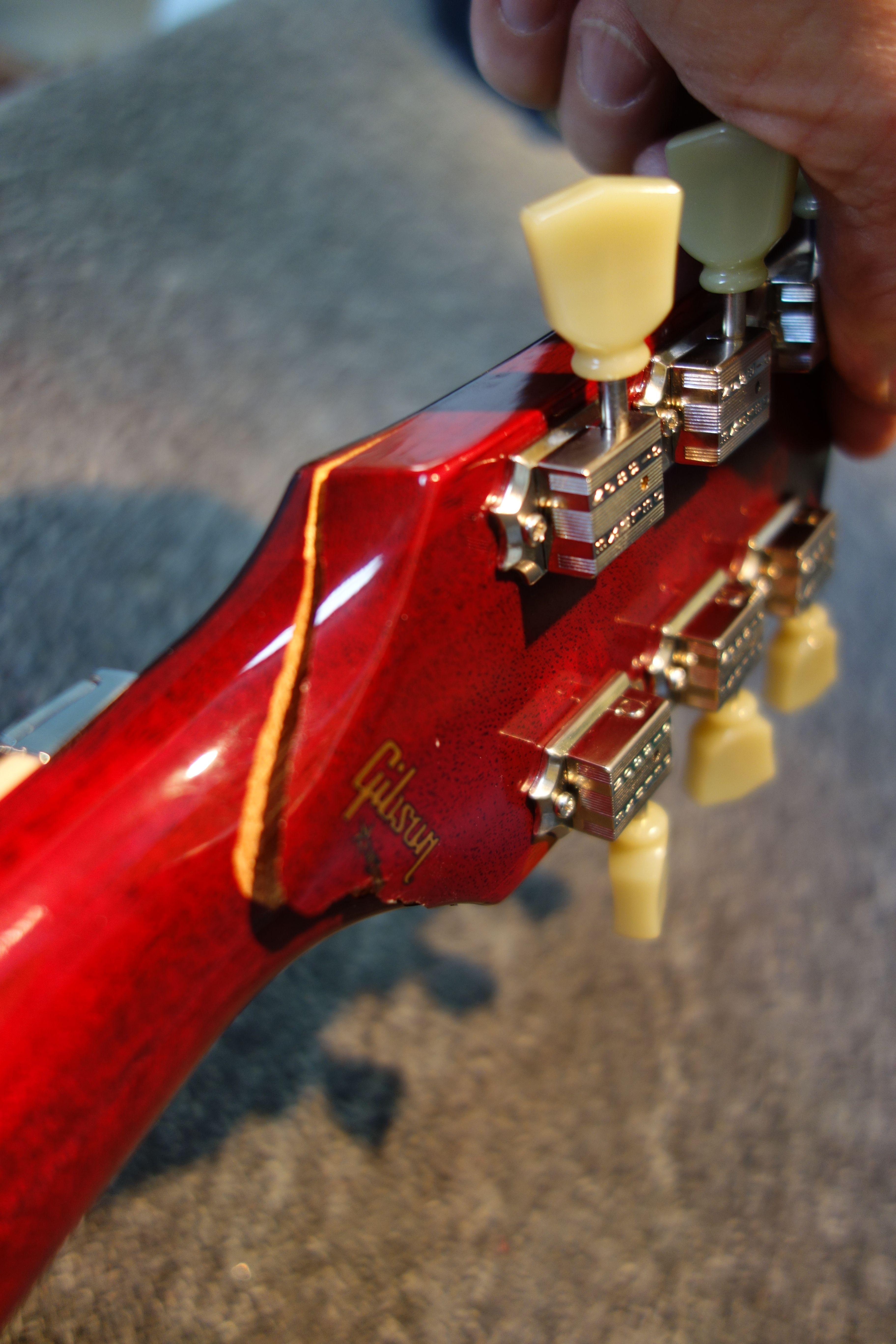 Another Broken Headstock In For Repair This One From Babyface Neelyguitars Com Guitar Building Custom Guitar Guitar Shop
