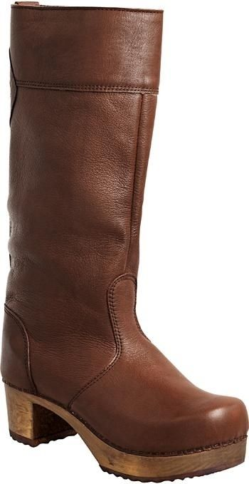 ee2006867 Or maybe these ones Sanita Gretha Wood Block Boots in Brown Full ...