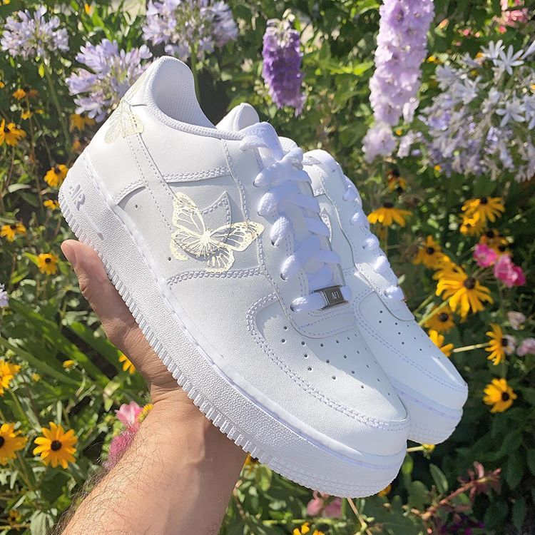 Reflective 3M Butterfly Airforce 🦋⚡️ Custom nike shoes