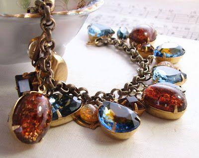 Sapphire Topaz Charm Bracelet Black Friday Sale 20% off